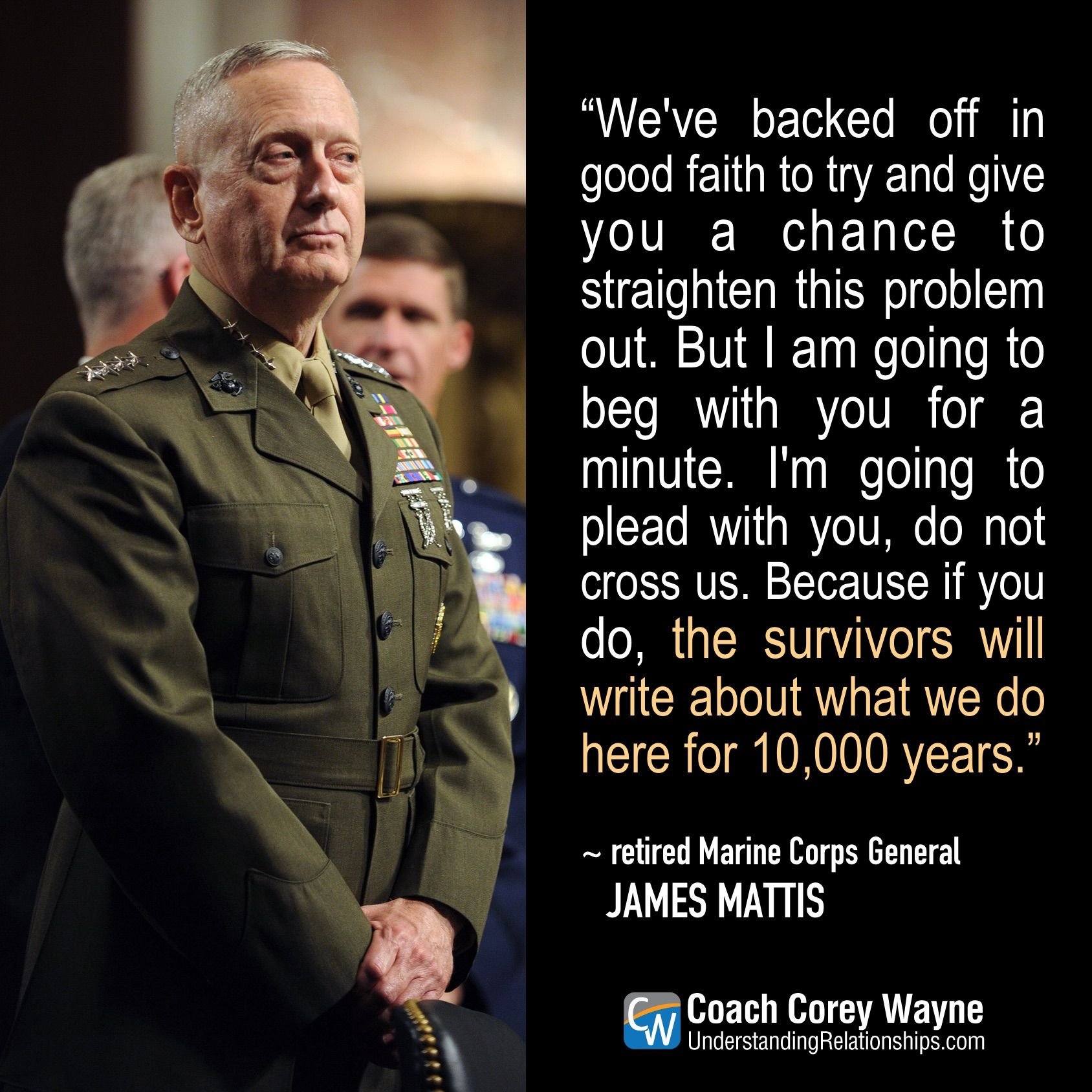 General Mattis Quotes Enchanting Stand Ready We Finally Have A Secretary Of Defense That Understands