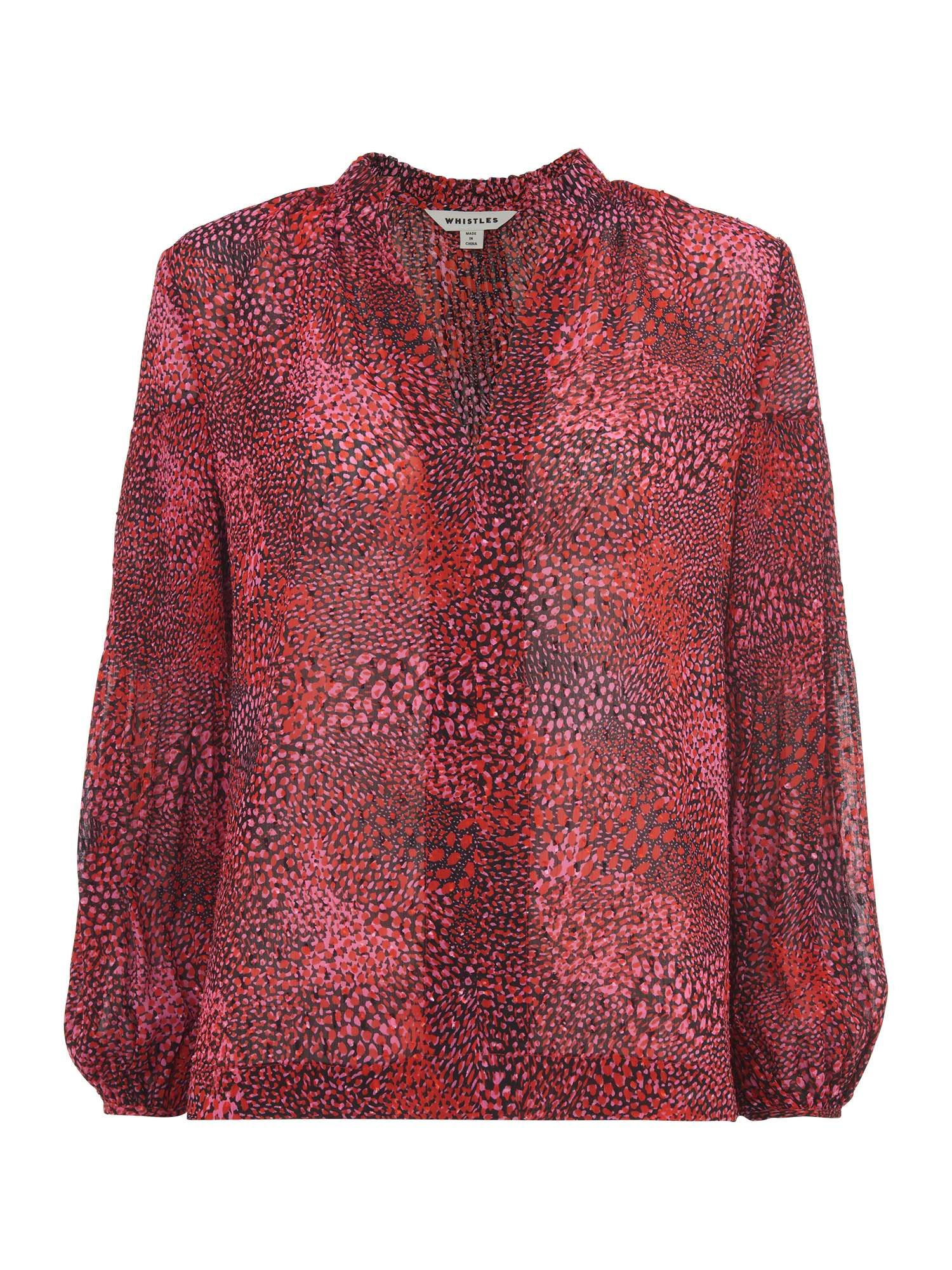 b9dd7a1bf3d1 Whistles Abstract Animal Print Blouse - House of Fraser | PRE-FALL ...