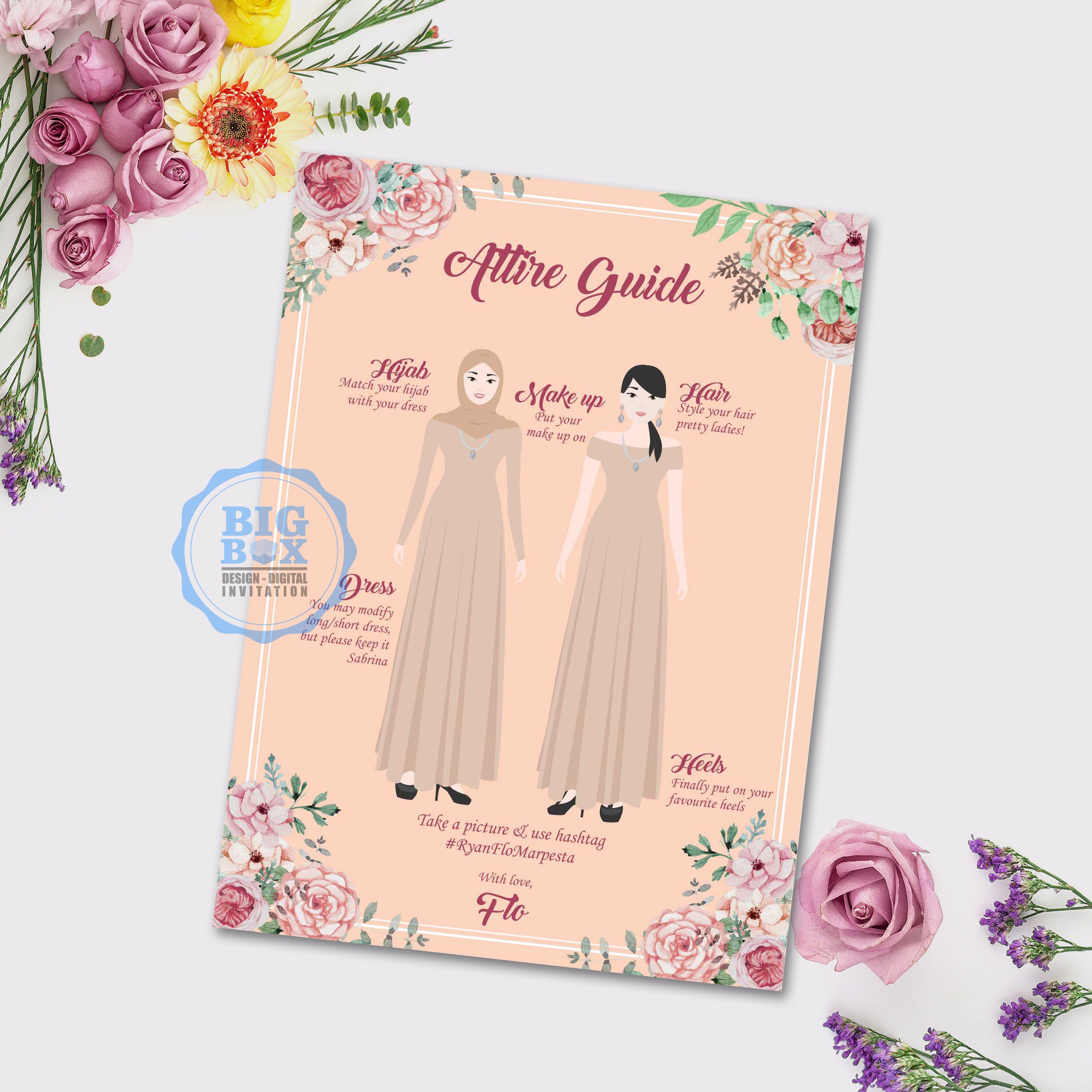 Sabrina Dress Contoh Undangan Pernikahan Undangan