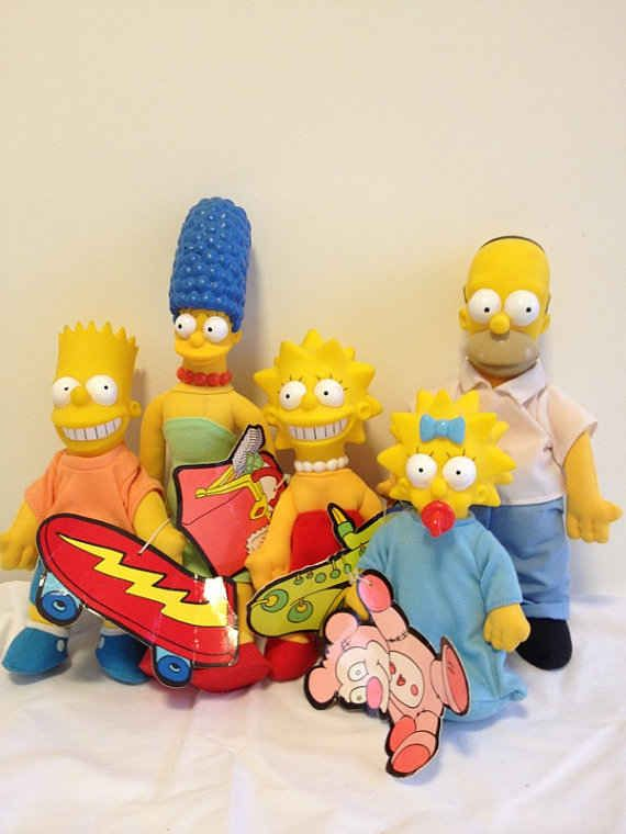 The Simpsons (1990) | The 11 Most Memorable Burger King Kids Club Toys Of The '90s