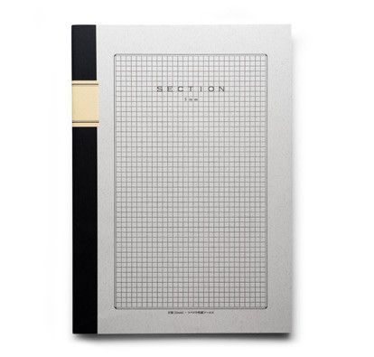 Japanese Grid Notebook 40 sheets (80 pages) of smooth, cream colored ...