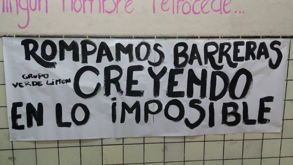 Rompamos barreras creyendo en lo imposible.