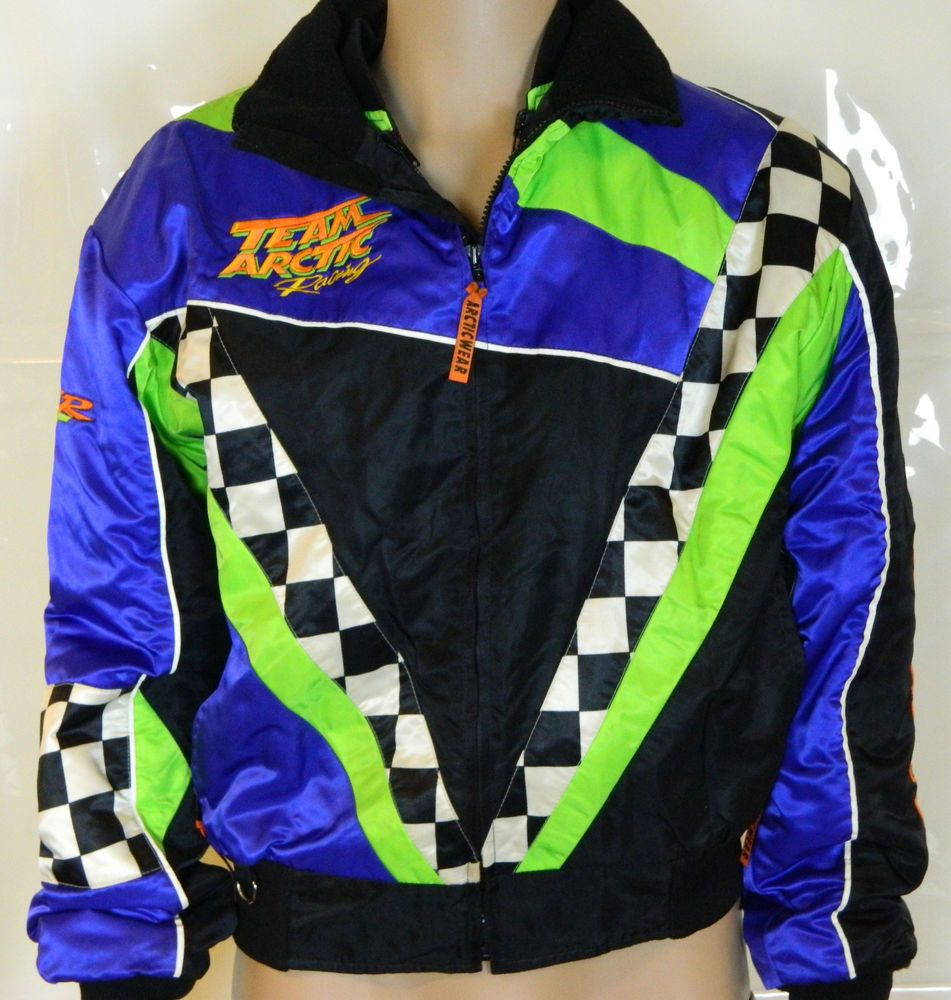 Team Arctic Cat Racing Snowmobile Jacket Double Lined Mens