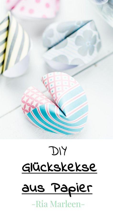 DIY Glückskekse aus Papier basteln - schönes Geschenk oder Party DIY