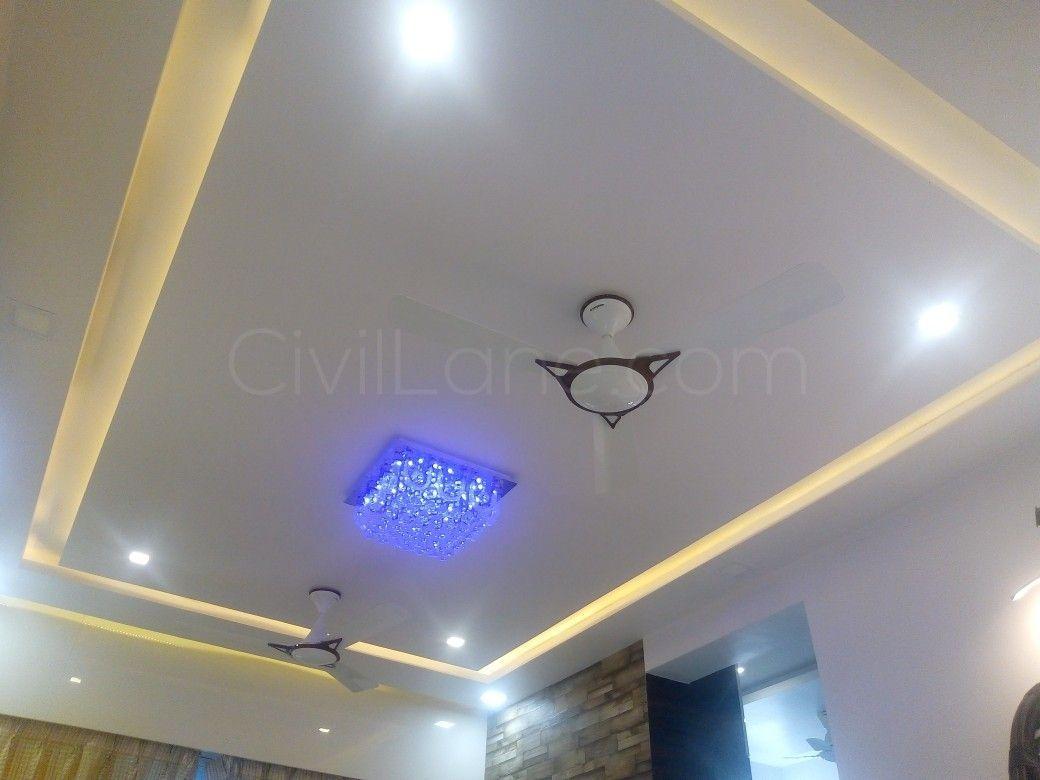 False Ceiling Design Rectangular Bedroom Interior Desain Interior Desain Arsitektur