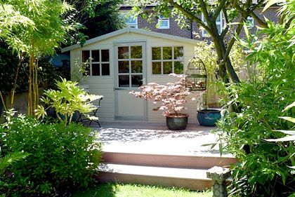garden transformations She sheds Pinterest Summer House and