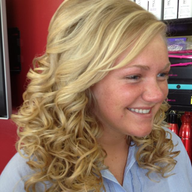 Front side view prom or formal soft curls | Hair styles ...