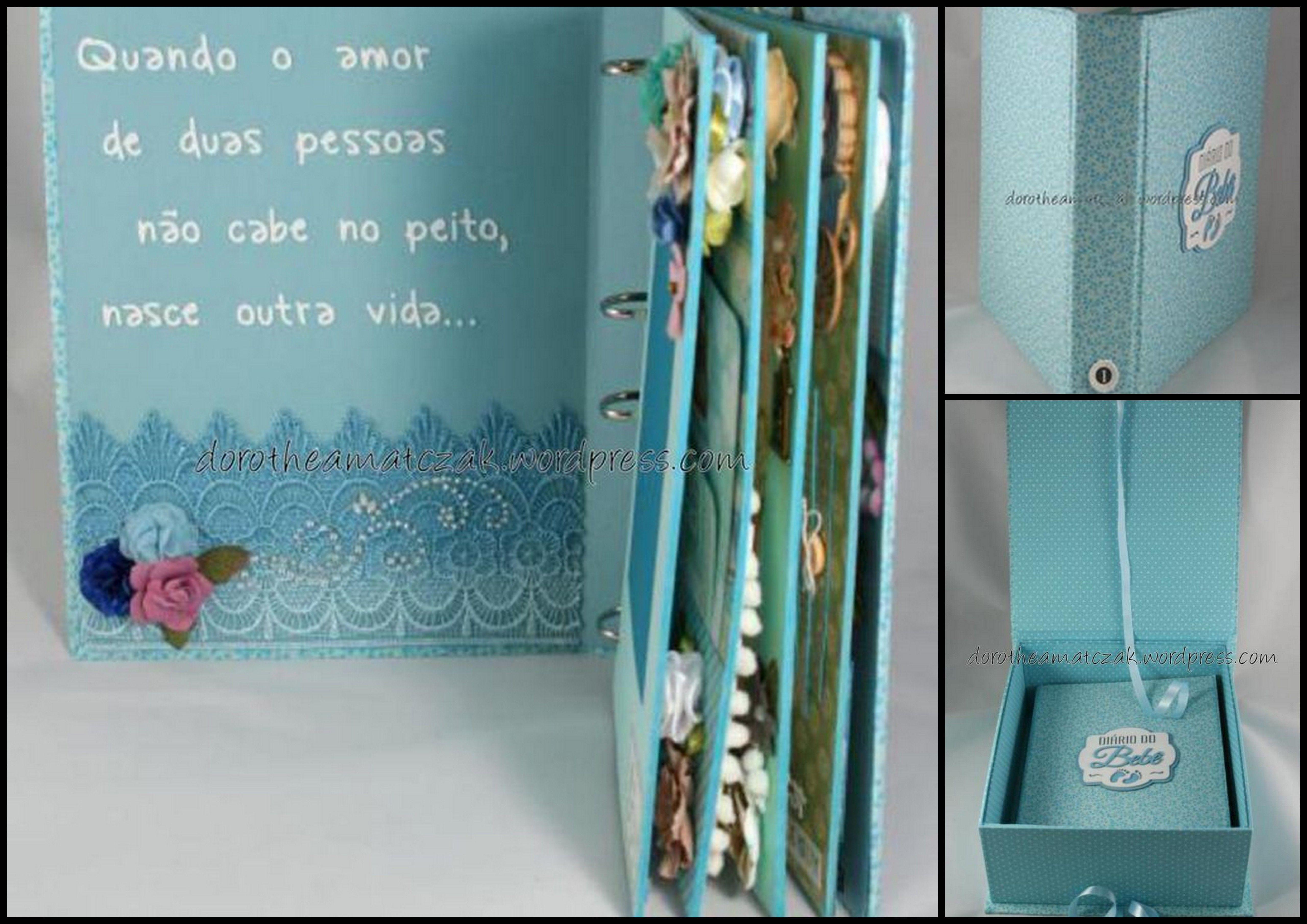 Caixa e álbum para registrar o nascimento de um príncipe lá do oeste do Paraná...