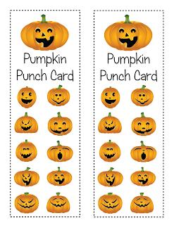 Behavior Pumpkin Punch Cards Freebie Punch Cards Halloween Jack O Lanterns Behavior Punch Cards