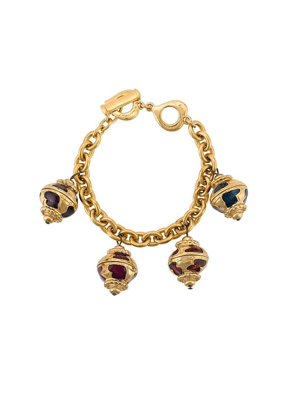 b531b993b4c Yves Saint Laurent Pre-Owned stone charms bracelet - Gold in 2019 ...
