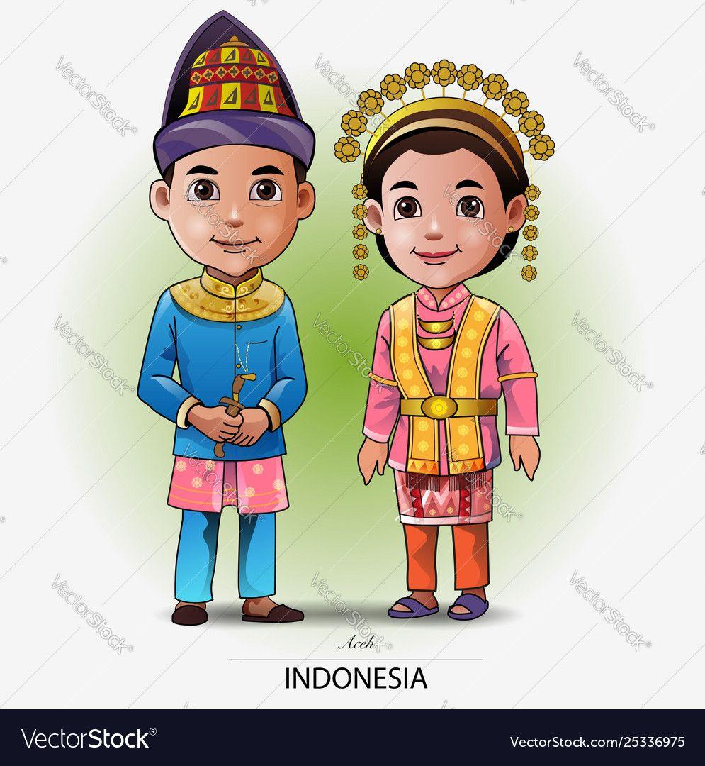 Pakaian Adat Sulawesi Tengah Kartun