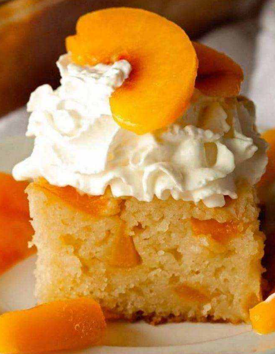 Peach Cobbler Snack Cake Recipe – All Recipes Guide #peachcobblerpoundcake