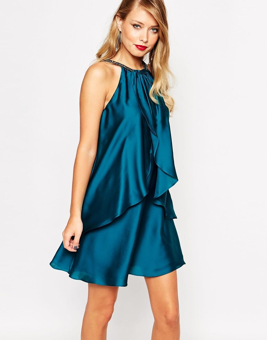 Holiday Party Dresses | Pinterest | Satin dresses, Emeralds and Satin