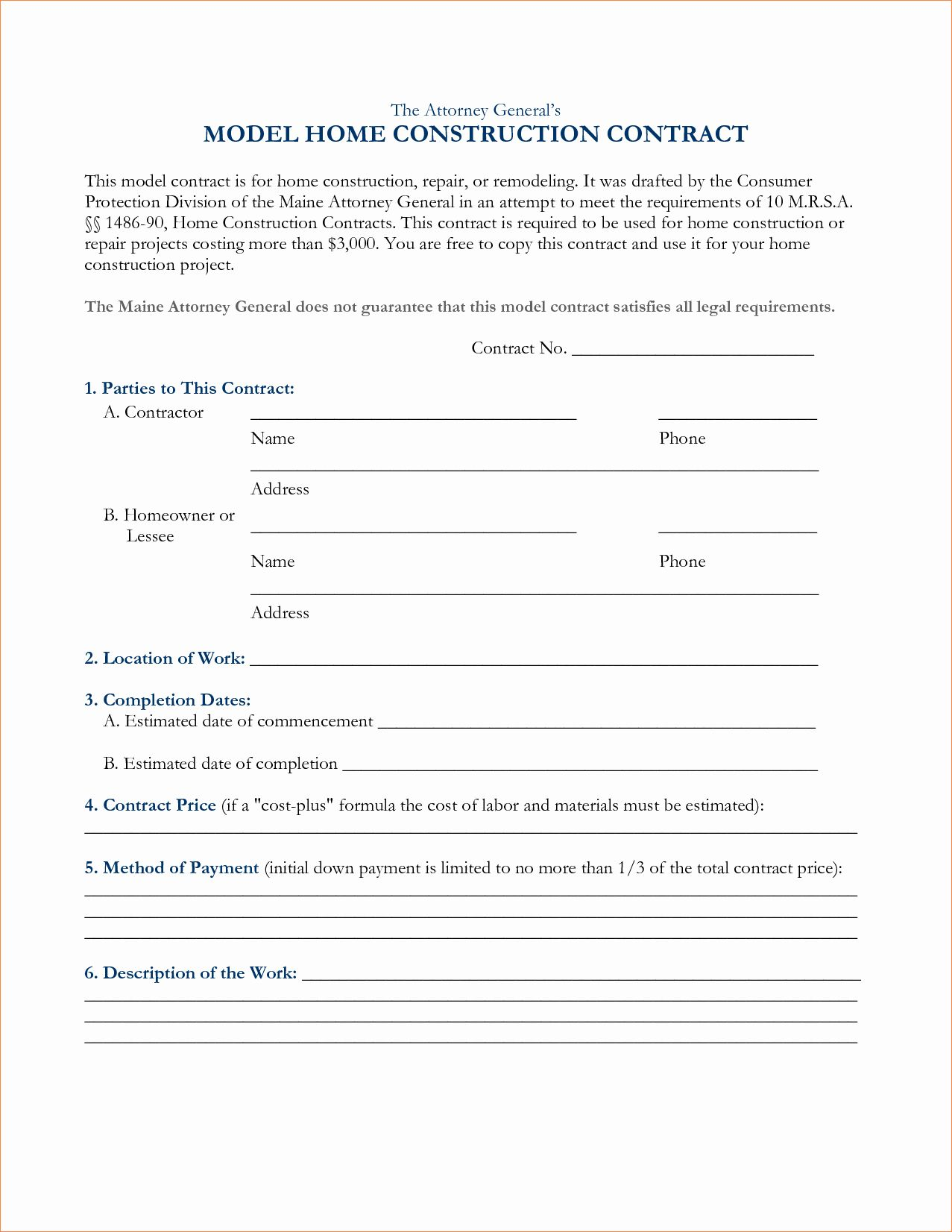 Free Roofing Contract Template Inspirational 6 Free Construction Contracts Templatesreport Template Construction Contract Contract Template Contract Agreement Free residential roofing contract template