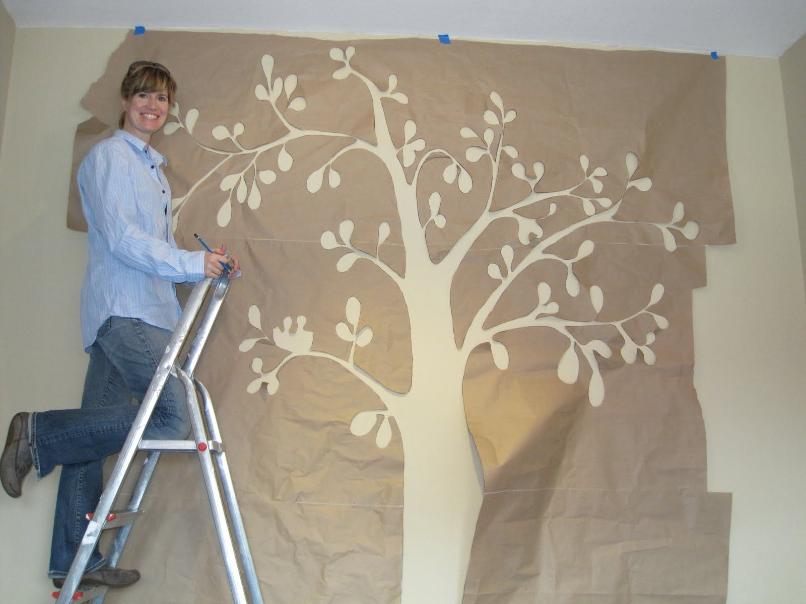 Wall art stencils tree with a large paper to manufacture design wall art stencils tree with a large paper to manufacture design amipublicfo Image collections