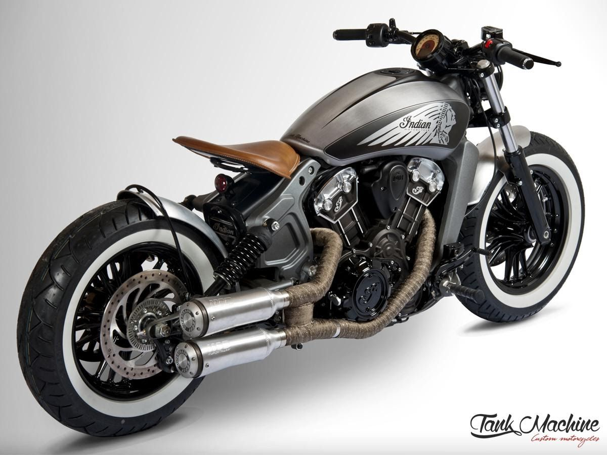 Indian Scout Bobber By Tank Machine Review Indian Motorcycle Scout Indian Motorcycle Bobber Motorcycle [ 900 x 1200 Pixel ]