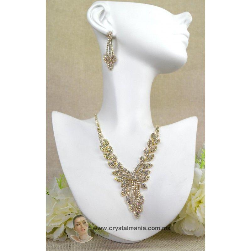 Celebridades GLAM Collar De Declaración Dorado Cristal Cadena De Cuerpo-por rocas Boutique