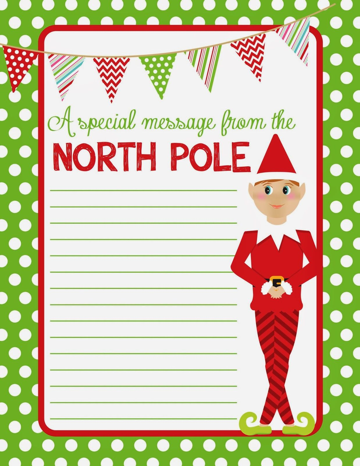 4 Best Images Of Elf On The Shelf Free Printable Christmas Paper