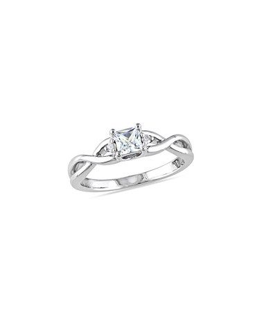 Another great find on #zulily! White Sapphire & Diamond Twist Ring #zulilyfinds