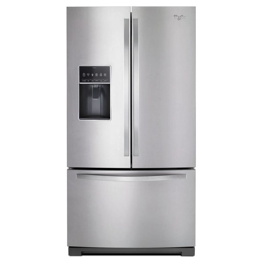 Whirlpool 26 8 Cu Ft French Door Refrigerator With Dual Ice Maker