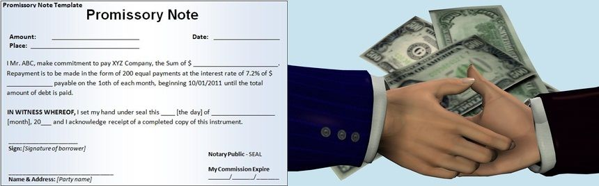 Real estate note is written promise between buyer and seller When - promissory note parties