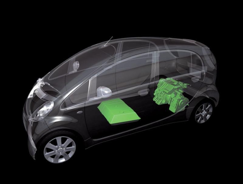 Mitsubishi #i-MiEv mechanics Pretty cool diagram! i-MiEV