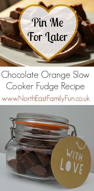 Chocolate Orange Slow Cooker Fudge Recipe - A Homemade Christmas Gift #homemadechristmasgifts