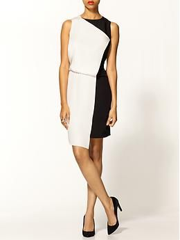 Piperlime collection color block dress