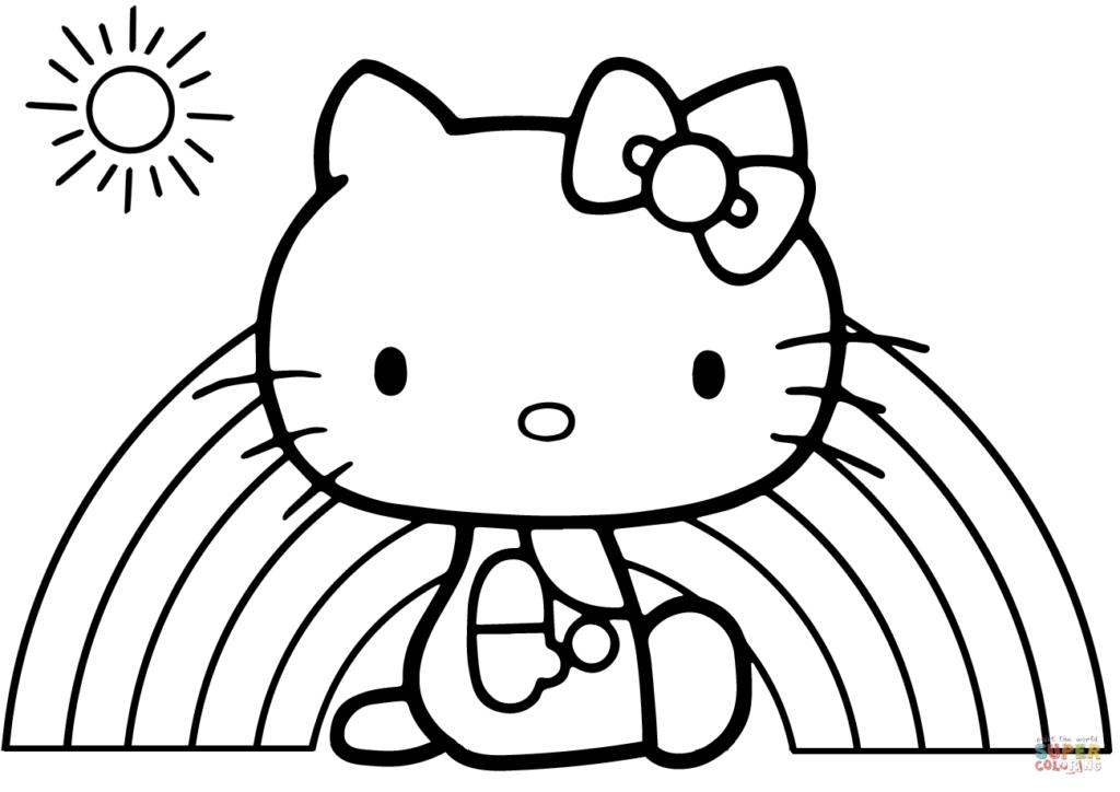 Mermaid Hello Kitty Coloring Pages Free Printable - Sea4Waterman ... | 724x1024