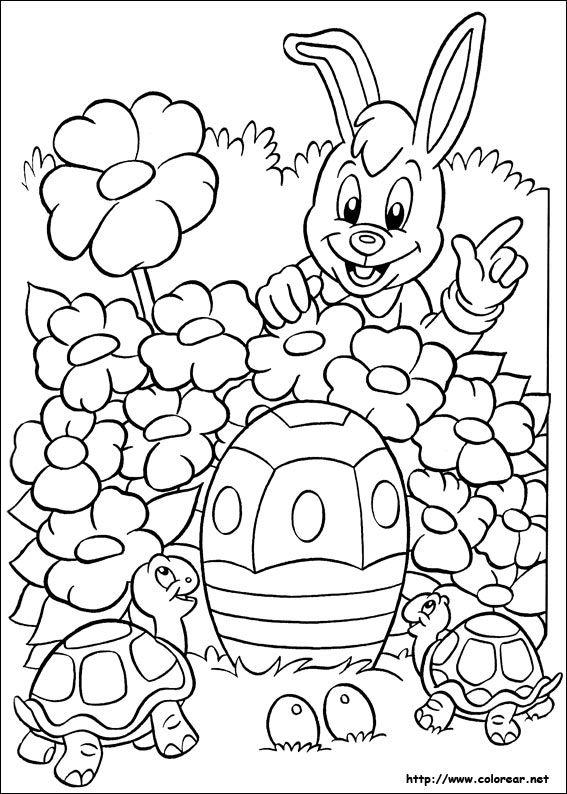 Dibujo de para imprimir ! | Easter | Pinterest | Pascua, Conejo de ...