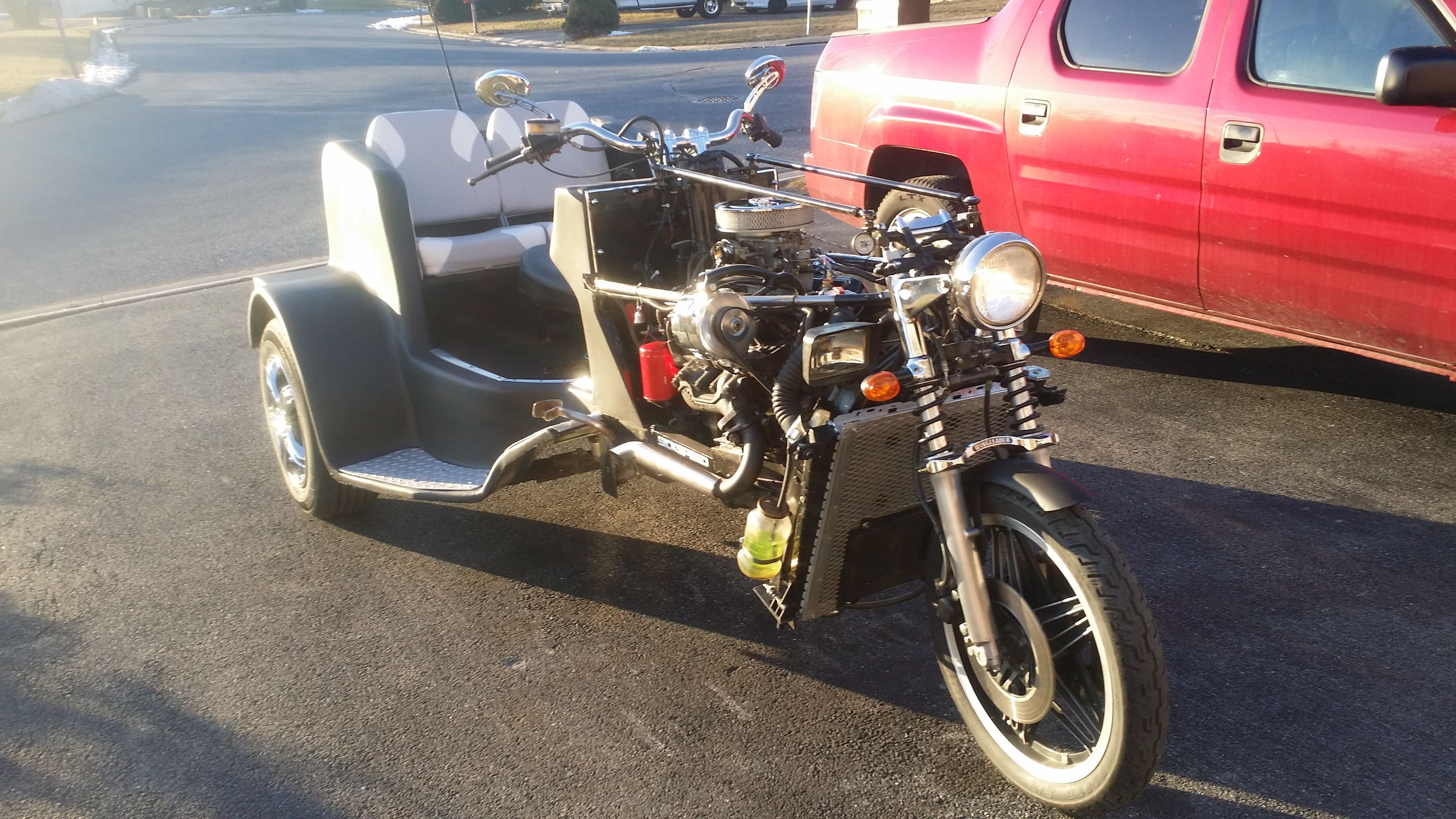 my v6 2.8 litter homemade trike motorcycle