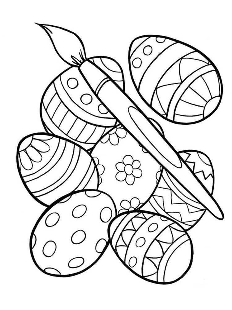 Free Easter Egg Coloring Pages For Adults Bunny Coloring Pages