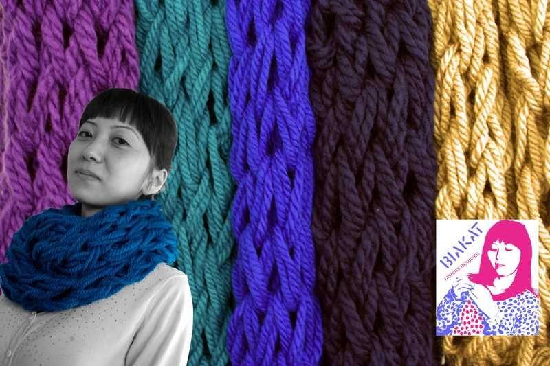 Super stitch gestrickt Loop-Schal von BiaKat