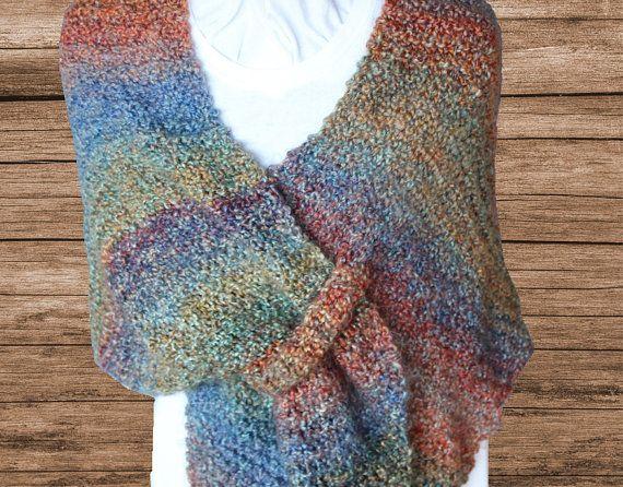 Knit Shawl Pattern Using Lion Homespun Yarn Kimberlees Korner