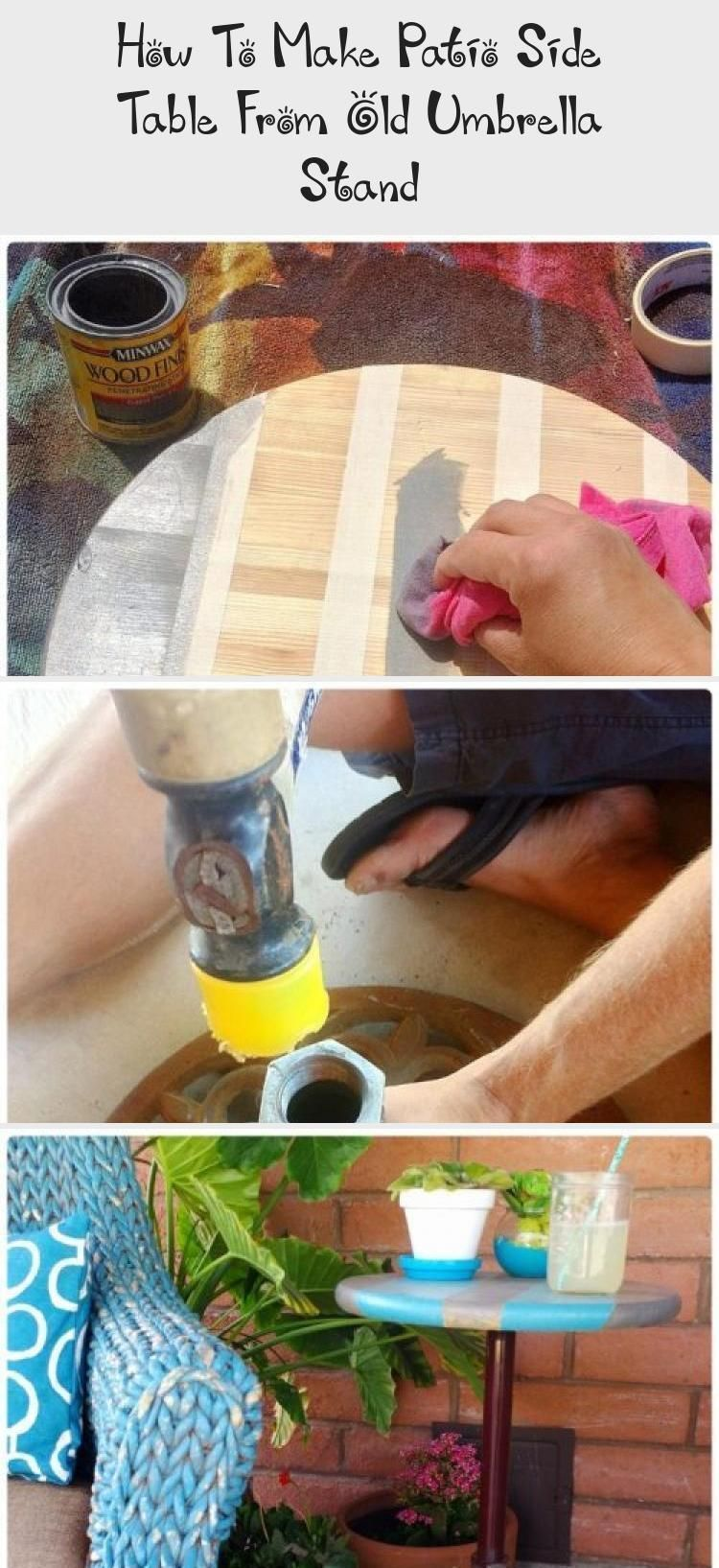 How To Make Patio Side Table From Old Umbrella Stand #patioumbrellastand Re-purpose umbrella stand into DIY patio side table for easy garden decor. How to build an outdoor table easily. #gardendecorPallet #gardendecorVideos #gardendecorGlass #Balconygardendecor #gardendecorWall #outdoorumbrellastand How To Make Patio Side Table From Old Umbrella Stand #patioumbrellastand Re-purpose umbrella stand into DIY patio side table for easy garden decor. How to build an outdoor table easily. #gardendecorP #patioumbrellastand