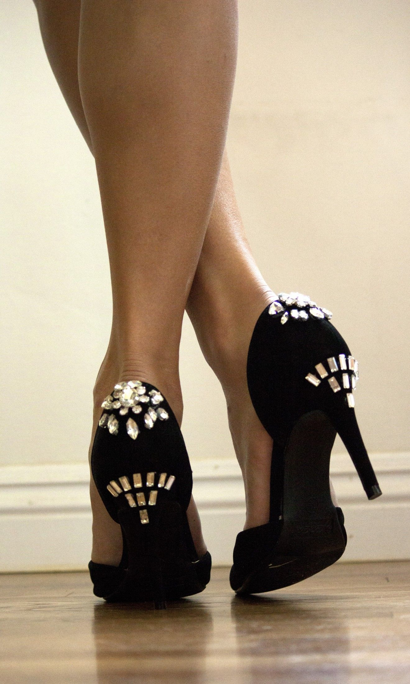 bejeweled heels - make a classic pair of pumps look designer chic