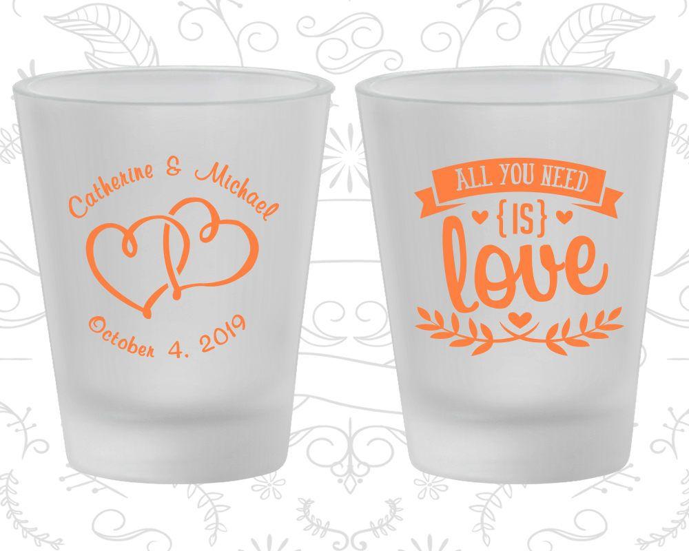 Frosted Shot Glasses, Wedding Shot Glasses, Personalized Shot ...