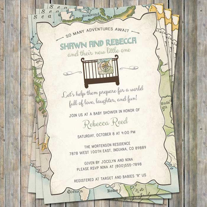 World Baby Shower Invitation, Travel Baby Shower, Welcome to the ...