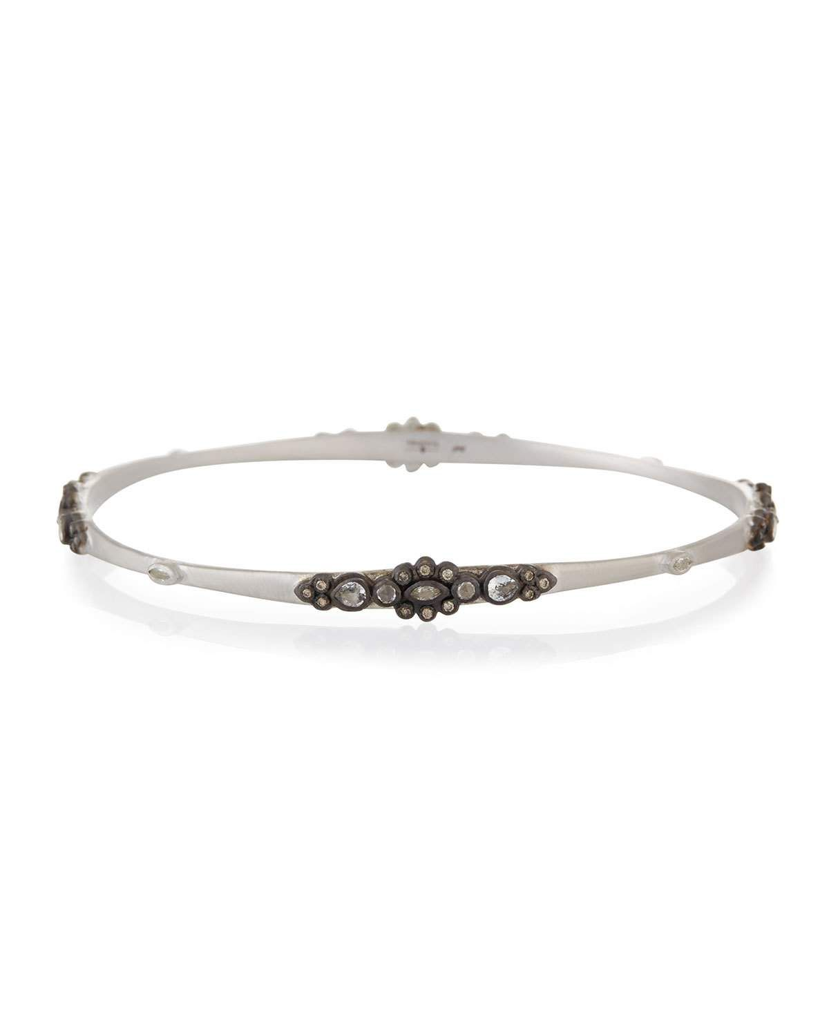 Armenta New World Midnight Bangle with Champagne Diamonds