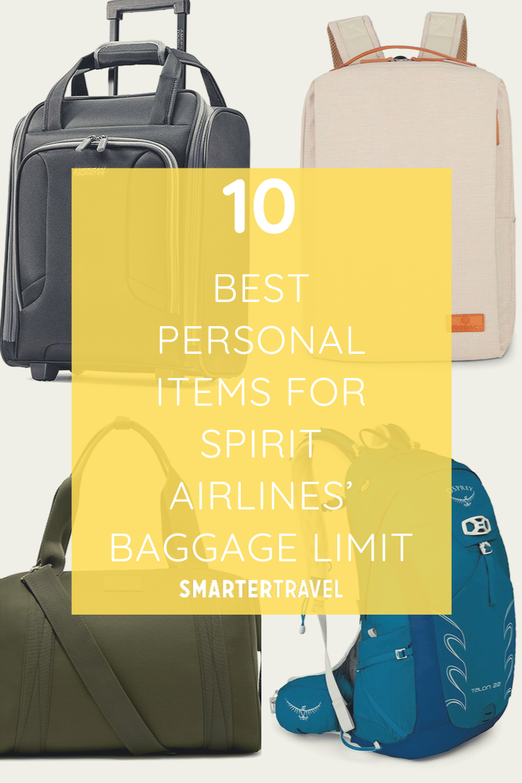 10 Best Personal Items for Spirit Airlines' Baggage Limit