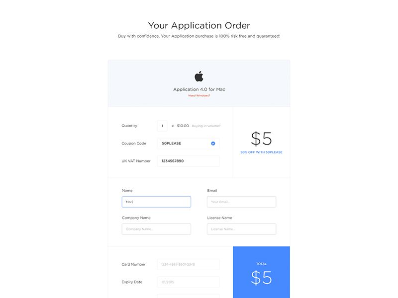 Payment Form  Ui Design Ui Ux And Web Ui Design