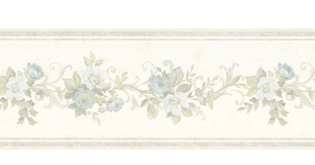 7 2 In X 15 Ft Prepasted Wallpaper Borders Floral Wall Paper Border 5507120 Floral Wallpaper Border Floral Wallpaper Wallpaper Border