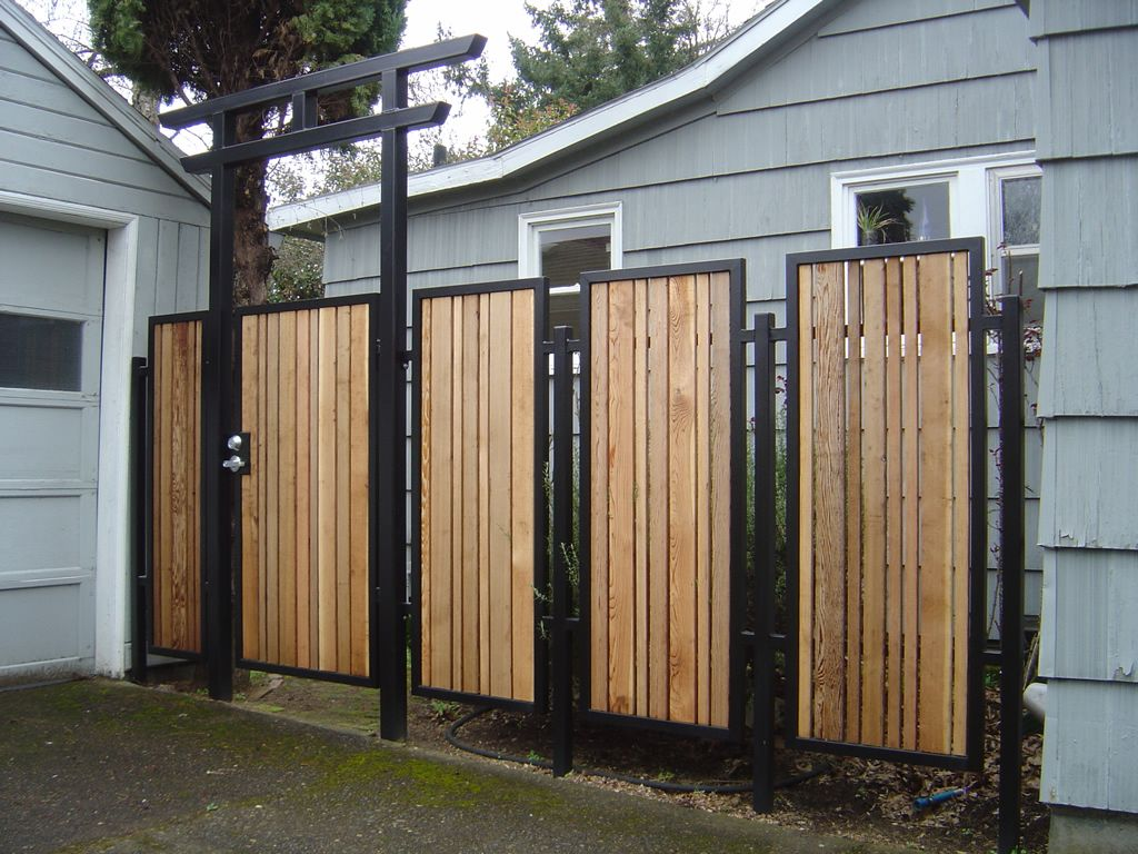 Decorative Outdoor Garden Panels Metal Fabrication In Eugene