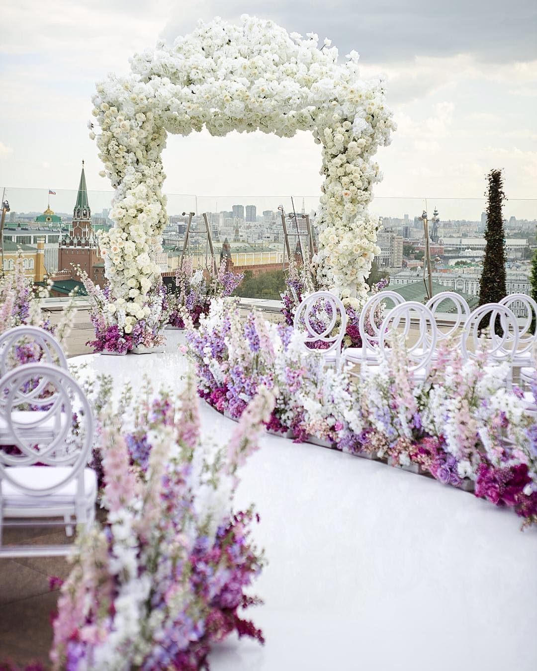 22 Pictures Wedding Altar Decorations: This Winding Pastel Aisle Leads To The Ultimate White