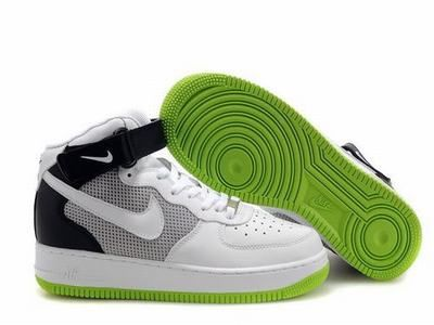 Buy Nike Air Force 1 Mid Core White Black Neon Sneakers with best  discountAll Nike Air Force 2014 shoes save up