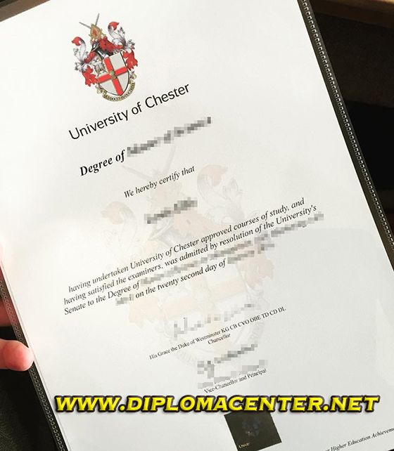 University Of Chester Degree Certificate University Of Chester