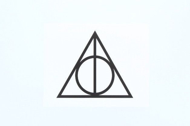 Deathly hallows harry potter macbook stickerssticker ideassymbol tattoos laptop