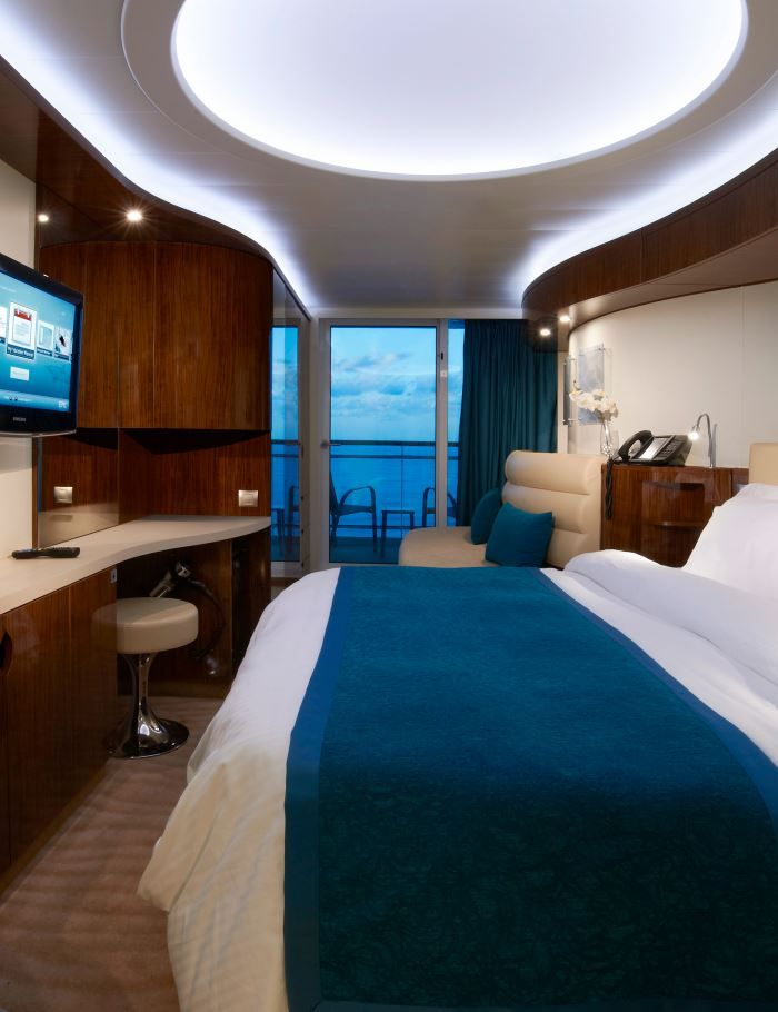 Norwegian Epic cruise ship. This is a balcony stateroom ...