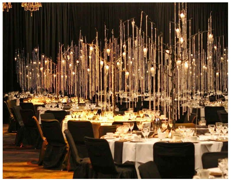 unique and cheap wedding reception ideabut i think it would look great with colored lighting
