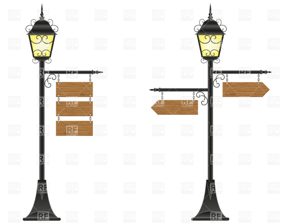 Old Fashioned Lamp Post Clip Art